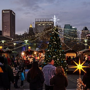 Opening Weekend at Christmas Village in Baltimore