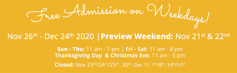 Opening Hours-Dates-Christmas Village in Baltimore-yellow